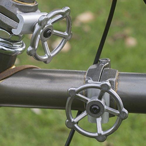 ACE+ 2x Abrazaderas de bisagra de Brompton–Palancas + platos plata titanio acero +
