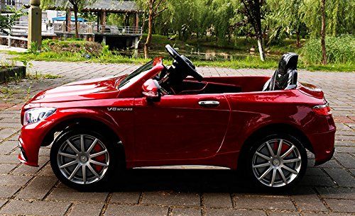 RC Auto kaufen Kinderauto Bild 4: Mercedes-Benz S63 AMG Cabriolet Ride-On 12V Elektro Kinderauto Kinderfahrzeug Kinder Elektroauto (ROT PAINT)*