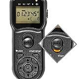 Programmierbarer Timer Fernauslöser für Canon EOS 1100D, 1000D, 700D, 650D, 600D, 550D, 500D, 450D, 400D, 350D, 300D, 100D, 70D, 60D, Powershot G12, G11, G10; Pentax K200D, K110D, K100D, K20D, K10D, K7, K5; Samsung GX-20, GX-10, GX-1s, GX-1L – wie RS-60E3 - 6