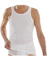 Comazo Herren Unterhemd - Unterhemden Doppelripp - Shirt ohne Arm - Tank  Top aus reiner Baumwolle - Comazo Platin… 2c25189bd7