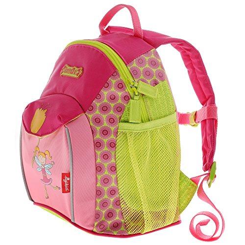 sigikid, Mädchen, Kinder Umhängetasche, Kindergartentasche, Blumenfee, Florentine, Pink/Grün, 24451 Rucksack groß / Florentine