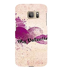 PrintVisa Be My Valentine Design 3D Hard Polycarbonate Designer Back Case Cover for Samsung Galaxy S7 Edge