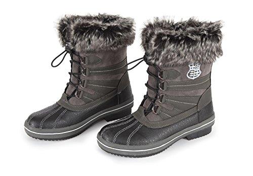 Alaska Bottes d'équitation Chaussures stable Yard gris