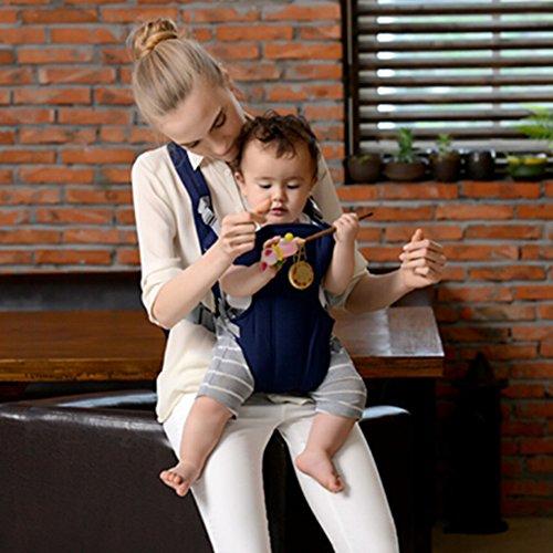 Havil confortable Safe Taille réglable ergonomique Porte-bébé Sangles avec Hip positions d'assise pour bébé tout-petits HAVIL