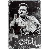 Nostalgic-Art 22210 Celebrities - Johnny Cash - Finger, Blechschild 20x30 cm
