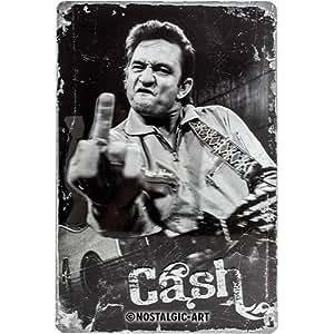 Nostalgic-Art Johnny Cash Up Yours Metal Plaque
