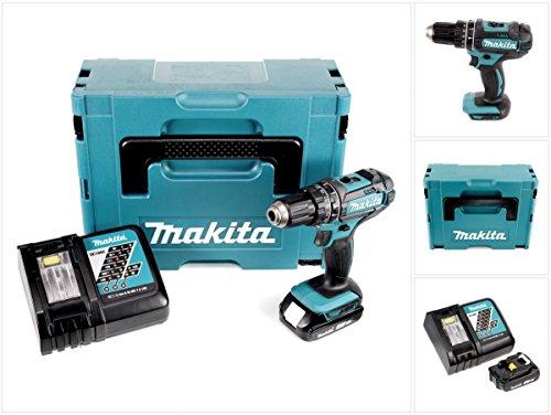 Preisvergleich Produktbild Makita DHP 482 Y1J-P - 18 V Li-Ion Akku Schlagbohrschrauber im Makpac + 1 x BL 1820 2,0 Ah Akku + DC 18 RC Ladegerät