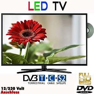 "Reflexion LDD2267 Téléviseur LED 22"" 55cm, DVB-S/S2, DVB-T, DVB-C, DVD et USB classe énergétiqueB 230V +12Volt"