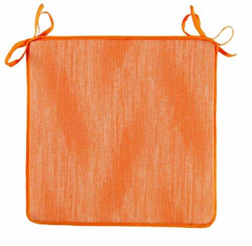 Best 04411478 - Cojín para sillas de Exterior, Color Naranja, 40 x 40 x 3 cm