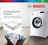 #10: Bosch Siemens Original Square Frame Pedestal for Washing Machine (Powder Coated Stainless Steel Stand - White)