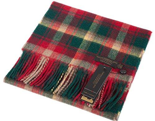 I Luv LTD Unisex Scottish Cashmere Scarf Dark Maple Tartan Design 26cm Wide