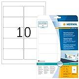 Herma 4349 Ablösbare Adressetiketten (96 x 50,8 mm) weiß, 250 Adressaufkleber, 25 Blatt A4 Papier matt, bedruckbar, selbstklebend