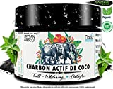 Poudre de Charbon Actif de Coco 60Gr  NABÜR  Peppermint