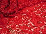 Rot oder Schwarz oder Weiß Blumenmuster Spitze Stoff Kleid