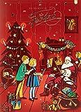 Feodora Adventskalender Santa Claus mit 24 Vollmilch-Hochfein-Täfelchen, 1er Pack (1 x 180 g)