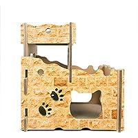 Aida Bz Gato Castillo Gato casa Gato rasguño Tablero Corrugado Papel Pet Cat Suministros Gato Jaula