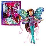 World of Winx - Dreamix Fairy - Layla Aisha Bambola 28cm con Magique Robe