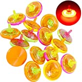 Goldge 15 Stück Kreisel Beleuchtetes aus Kunststoff
