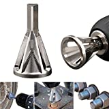 Deburring External Chamfer Tool Stainless Steel Remove Burr Tools for Drill Bit Stainless Steel Eliminate Damaged Extractor Silver Fits Size 8-32 Bolts