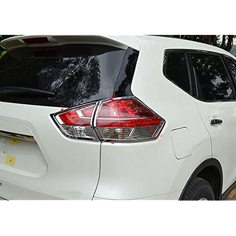 4pcs cromate ABS lampada fanale posteriore, specifico per Nissan Rogue X-Trail 20142015