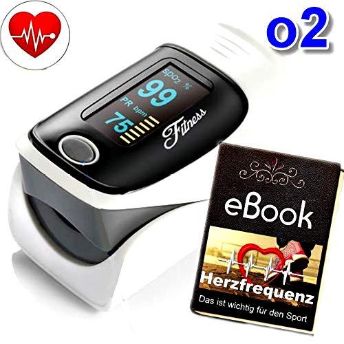 Heartbeat O2 Herz Puls Finger Oximeter mit Alarmfunktion, drehbares OLED Display zur genauen Messung der Sauerstoff-Sättigung (SpO2) der Herzfrequenz mobil Zuhause & Unterwegs