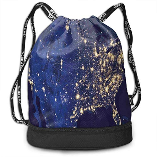 Cupsbags Night As Seen from Outer Space Yoga Drawstring Bag Backpack Bundle Backpack
