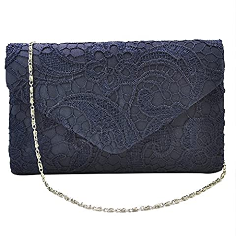 Wocharm Brand New Wonderful Lace Evening Clutch Bag Clutches BRIDAL