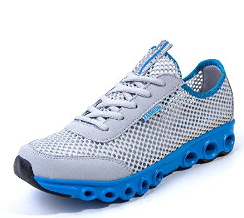 Men's Mesh Breathable Light Running Shoes Light Grey