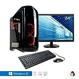 Sedatech Pack complet PC Gamer Expert avec watercooling, Intel i3-8100 4x 3.60Ghz, Geforce GTX1060 3Go, 16Go RAM DDR4, 250Go SSD, 1To HDD, USB 3.1, Wifi, CardReader, HDMI2.0, DirectX 12, VR Ready, Alim 80+. Unité centrale avec moniteur TFT-LED 23.6', clavier & souris et Windows 10 64 Bit