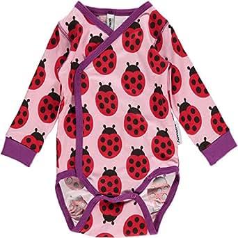 maxomorra Baby Mädchen Wickelbody Marienkäfer Ladybug (62)