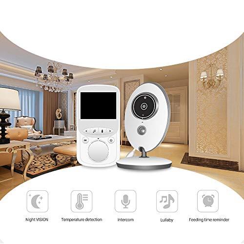 Wireless WiFi Monitor Babyphone Temperaturüberwachung Kamera Musik eingebaut 2,4