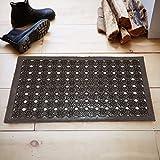 #6: Kuber Industries™ PVC Door Mat for Offices,Hotel ,Restaurtaurant, Home,Shop Set of 1 Pc (58*38 Cm) Coffee