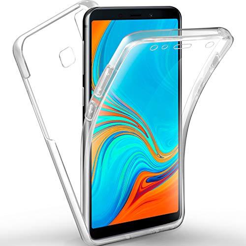 AROYI Samsung Galaxy A9 2018 Hülle 360 Grad Handyhülle, Silikon Crystal Full Schutz Cover [2in1 Separat Hart PC Zurück + Weich TPU Vorderseite] Vorne und Hinten Schutzhülle für Samsung Galaxy A9 2018