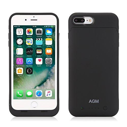 AGM iPhone 7 Plus Cover Batteria da 7000mAh Power Case Batteria Maggiorata Esterna Custodia Protettiva con Batteria Integrata da 7000mAh per iPhone 7 Plus (Nero) Nero