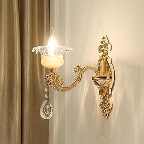 Maniny Europäische Wohnzimmer Schlafzimmer Einzel Kopf Wandleuchte Kristall Lampe Korridor 2 Kopf Kreative Wandleuchten 220 V , a