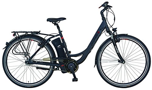Prophete E-Bike Alu-City Aeg mit Rücktritt Navigator 7.8 Elektrofahrrad, Schwarz Matt, 28 Zoll