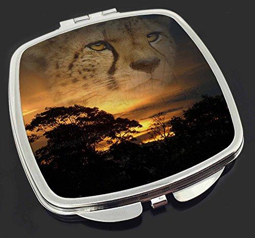 Cheetah -Uhr Make-up Taschenspiegel Weihnachtsgeschenk Cheetah Uhr