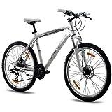 CHRISSON - TERIER Bicicleta de montaña, tamaño 26'' (66,0 cm), color blanco matt, 21 velocidades