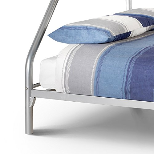 """Happy Beds Atlas Triple Sleeper 3' And 4'6"""" Solid Metal Bunk Bed Frame"""