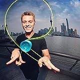 YoyoFactory Shutter Profi Yo-Yo von Weltmeister Gentry Stein - BLAU (Schnelle Rotation Metall Kugellager, Fortgeschrittenes Unresponsive YoYo, Schnur und Anleitung Enthalten)