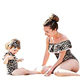 Mounter Maillots de Bain Filles,[Famille] Léopard Imprimé [Siamois] Bikini Appariement Mère Fille Vêtements