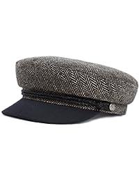 Brixton Fiddler Cap Elbsegler Matrosenmütze - heather grey/black