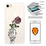 c00884 - Cool Scary Skeleton Skull Hand Death Rose Tattoo Design iphone 6 Plus/iphone 6S Plus 5.5 Komplett 360° Grad Vo
