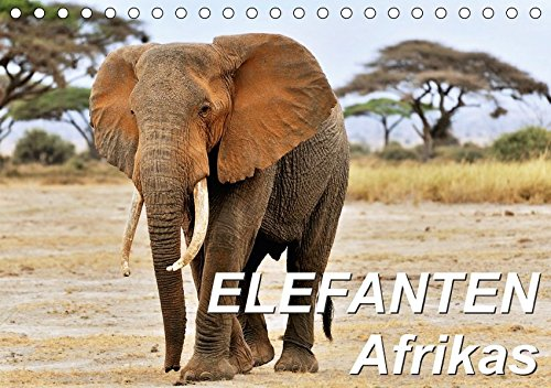 Elefanten Afrikas (Tischkalender 2017 DIN A5 quer): Die Dickhäuter Afrikas erscheinen mal...