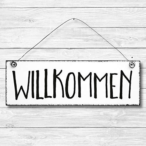 ild Türschild Wandschild aus Holz 10x30cm - Holzdeko Holzbild Deko Schild ()