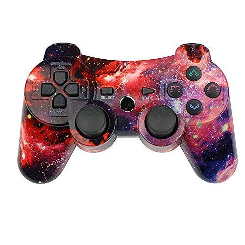 Mando para PlayStation3 Inalámbrico Wireless Double Shock y Función SIXAXIS. (Compatible PS3 Fat/Slim/Superslim). (Multicolor Galaxy)