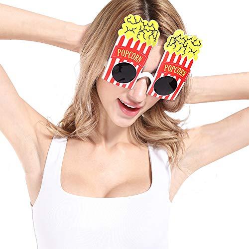 Popcorn Bilder Kostüm - Unbekannt Fashional Lustige und Nette Popcorn Geformt Partei Gläser und Sonnenbrille für Halloween und Festivals Partei Liefert Dekoration