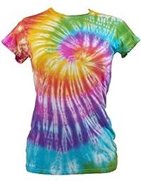 Tie Dye Womens Rainbow Spiral T-shirt 702251 Ladies T-Shirt