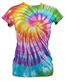 Tie Dye Womens Rainbow Spiral T-shirt 702251 Damen Ladies T-Shirt 005 S