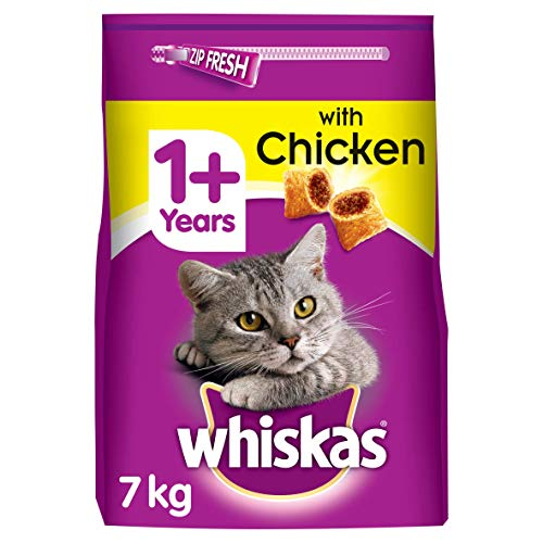 WHISKAS 1+ Cat Complete Dry with Chicken - 7 kg